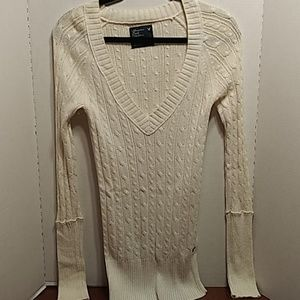 American Eagle Outfitters Cable Knit Sweater Vneck